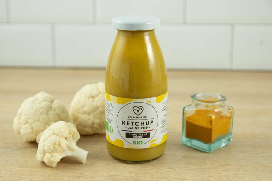 Ketchup Chou-Fleur Curry BIO - Les 3 Chouettes - La Ruche qui dit Oui ! à la maison