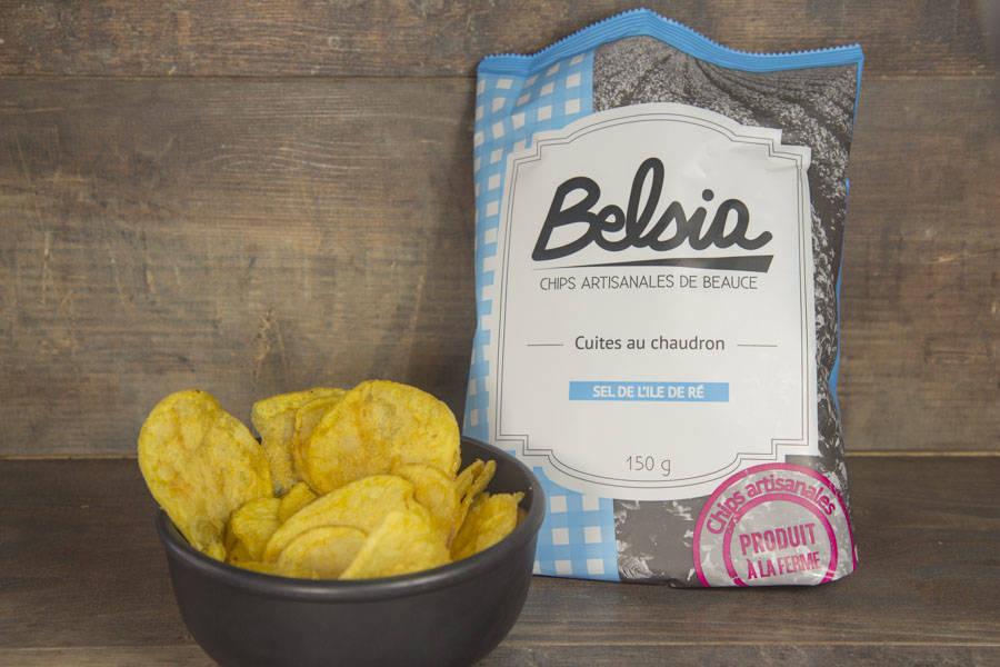 Chips artisanales au sel de l'Île de Ré - Belsia - Ferme de Létourville - La Ruche qui dit Oui ! à la maison