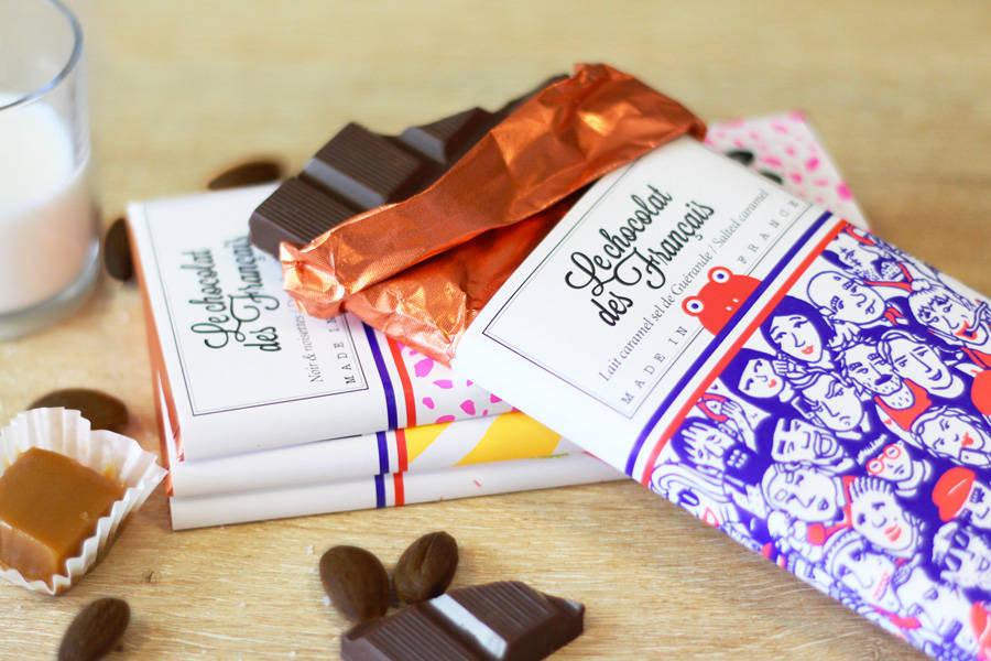 Chocolat lait caramel sel de Guérande - Foule BIO - Le Chocolat des Français - La Ruche qui dit Oui ! à la maison