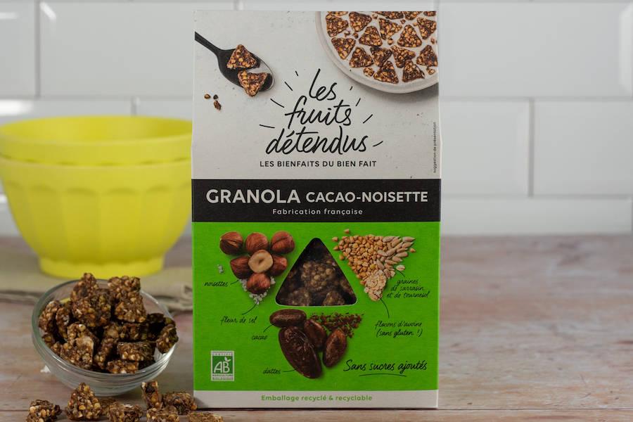 Granola Cacao-Noisette BIO - Les Fruits Détendus - La Ruche qui dit Oui ! à la maison