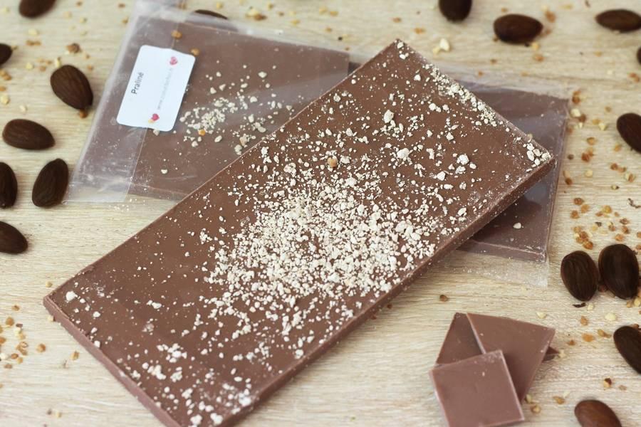 Chocolat Lait praliné BIO - Coeur de Choc - La Ruche qui dit Oui ! à la maison