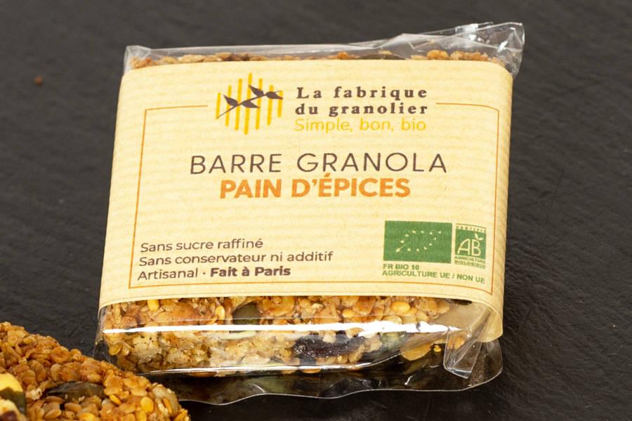 Barre Pain d'Epices BIO - La Fabrique du Granolier - La Ruche qui dit Oui ! à la maison