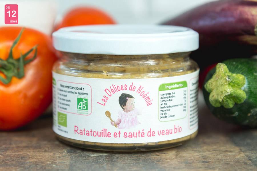 Ratatouille et sauté de veau BIO - Les Délices de Noémie - La Ruche qui dit Oui ! à la maison
