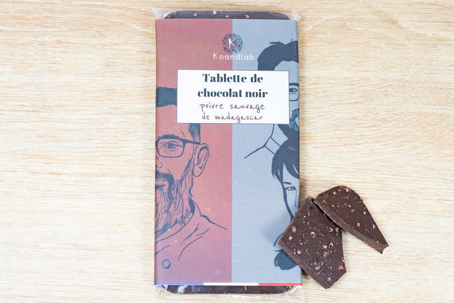 Tablette de chocolat noir 64%, Poivre noir sauvage de Madagascar - KoandLab - La Ruche qui dit Oui ! à la maison