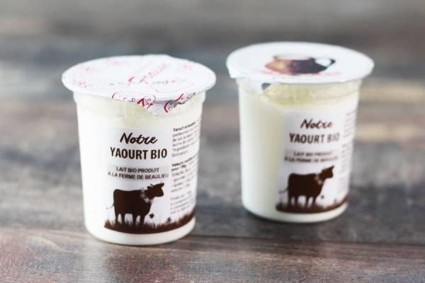 Yaourt aromatisé fraise BIO - La Fromentellerie
