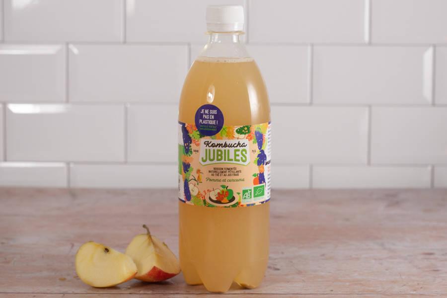 Kombucha thé vert, pomme, curcuma - 75 cl - Jubiles - La Ruche qui dit Oui ! à la maison