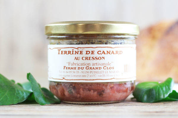 Terrine de canard au cresson - Ferme du Grand Clos - Le Comptoir Local