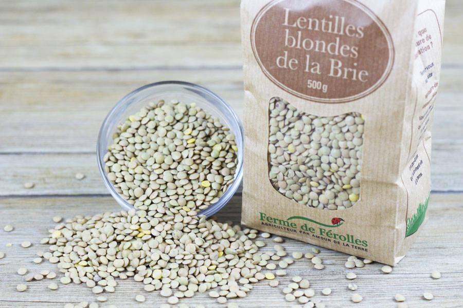 Lentilles blondes de la Brie - Ferme de Férolles - La Ruche qui dit Oui ! à la maison