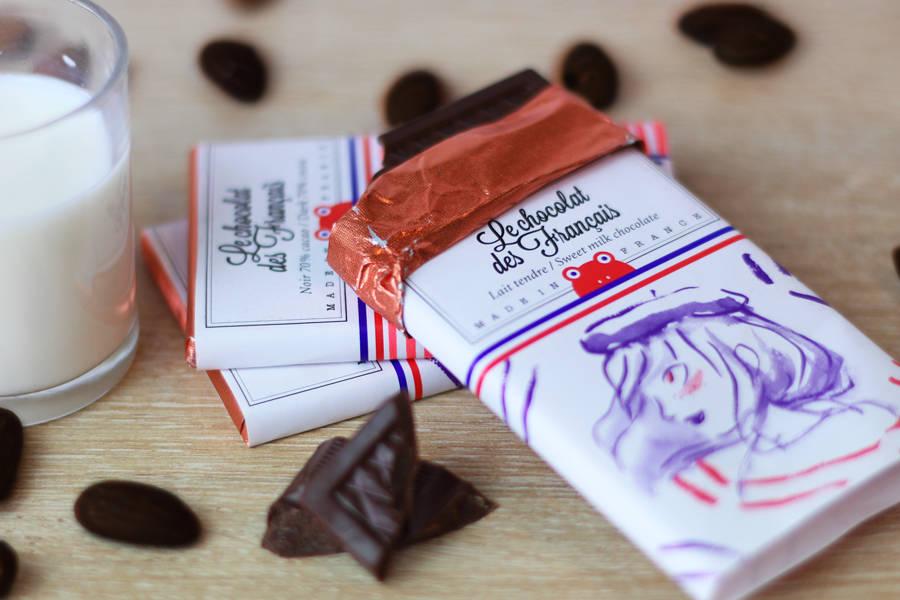 Chocolat au lait tendre mini tablette - Paris multi BIO - Le Chocolat des Français - La Ruche qui dit Oui ! à la maison
