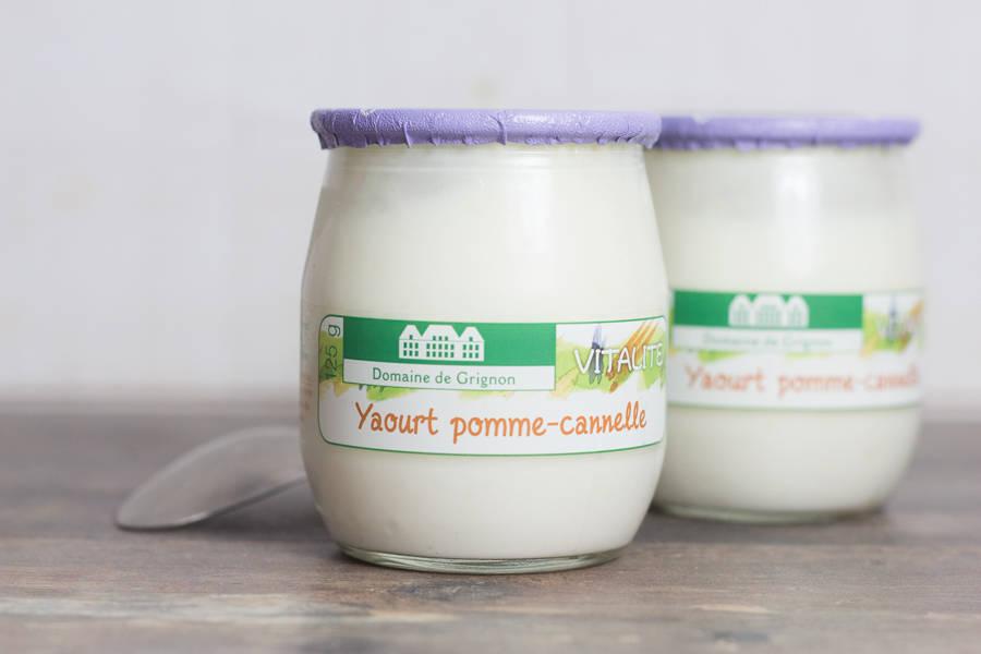 Yaourt pomme - huile essentielle de cannelle - Ferme de Grignon - La Ruche qui dit Oui ! à la maison