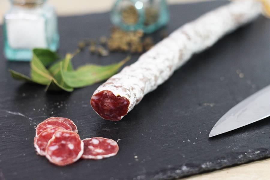 Saucisse sèche Francilin - Ferme Sainte Colombe - La Ruche qui dit Oui ! à la maison