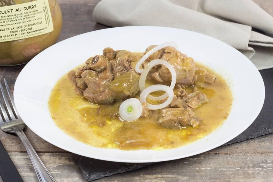 Poulet curry - Ferme de la Haie de Béranville - La Ruche qui dit Oui ! à la maison