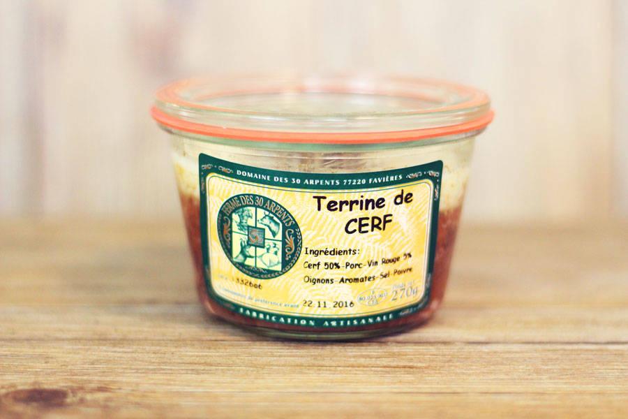 Terrine de Cerf - Domaine des 30 Arpents - La Ruche qui dit Oui ! à la maison