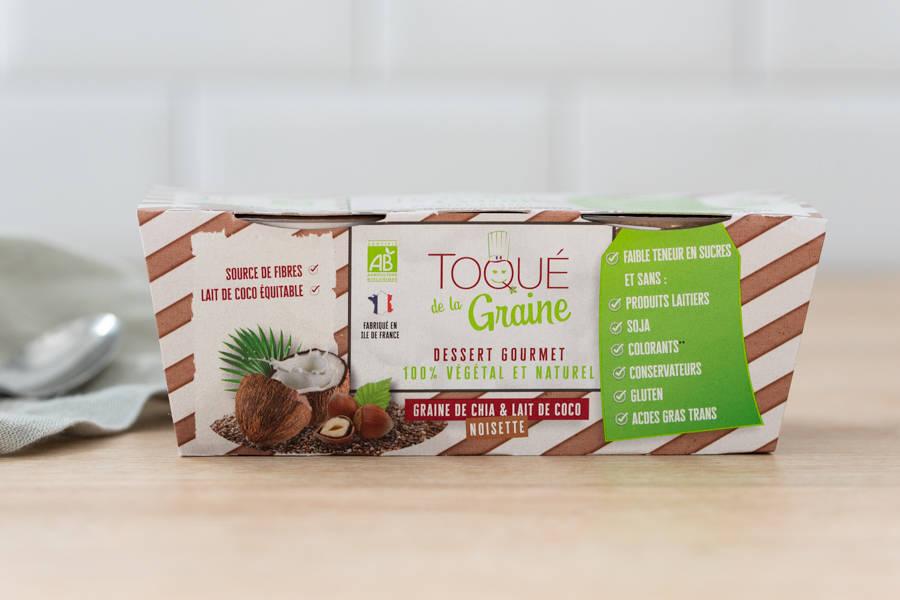 Dessert onctueux 100% végétal NOISETTES BIO x2 - Toqué de la Graine - La Ruche qui dit Oui ! à la maison
