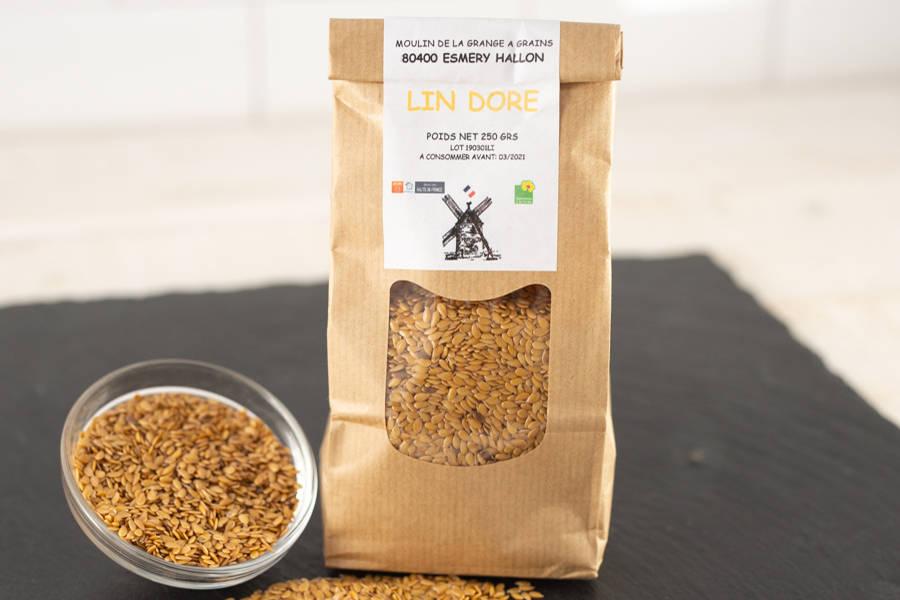 Graines de lin doré - La Grange à grains - La Ruche qui dit Oui ! à la maison