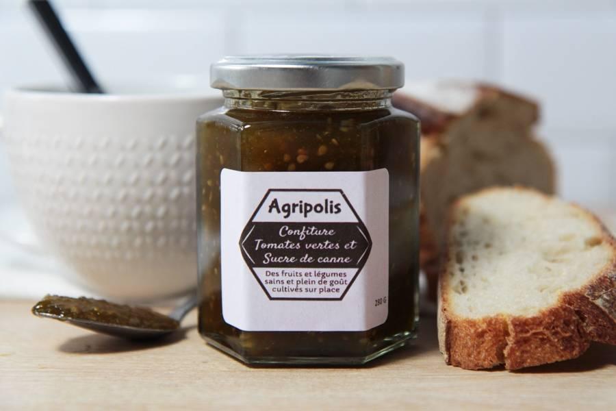 Confiture de tomate verte sucre de canne - Agripolis - La Ruche qui dit Oui ! à la maison
