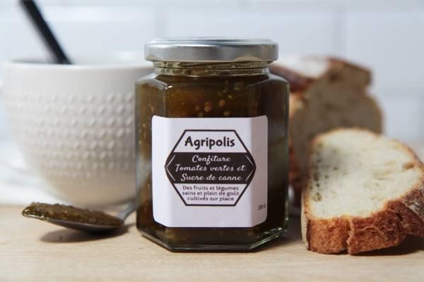 Confiture de tomate verte sucre de canne - Agripolis