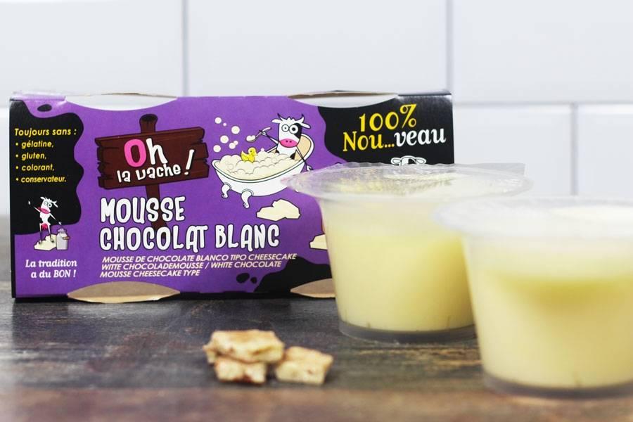 Duo de mousse au chocolat blanc - Oh la Vache - La Ruche qui dit Oui ! à la maison