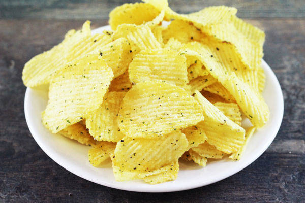 Chips aïl et olives - Le Jardin de Guillaume