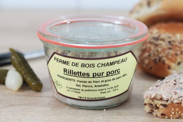 Rillettes pur de porc - Ferme de Bois champeau