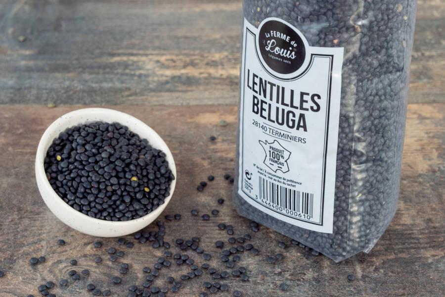 Lentilles Beluga - Ferme de Louis - La Ruche qui dit Oui ! à la maison