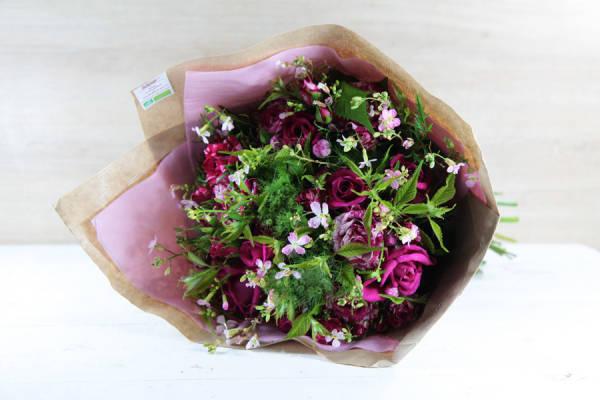 Bouquet émotion rose BIO - Fleurs de Cocagne