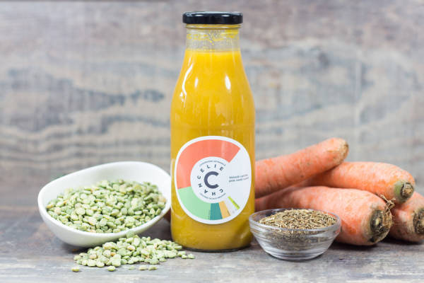 Velouté carotte pois cassé cumin - Chancelie - Le Comptoir Local