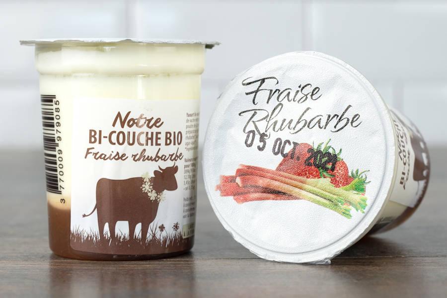 Yaourt bi-couche fraise rhubarbe BIO - La Fromentellerie - La Ruche qui dit Oui ! à la maison