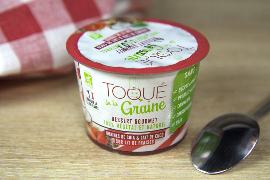 Dessert onctueux 100% végétal FRAISE BIO - Toqué de la Graine - La Ruche qui dit Oui ! à la maison