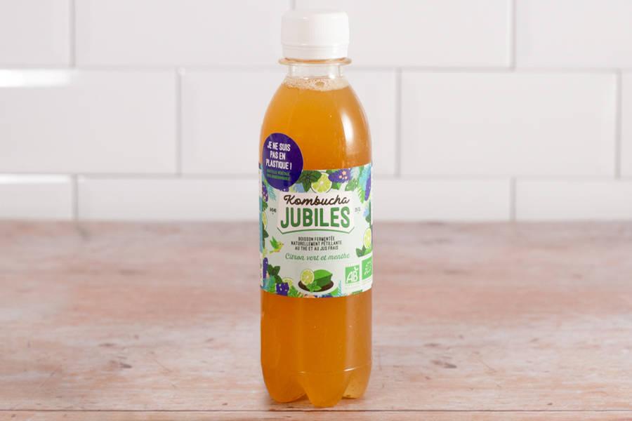 Kombucha thé noir citron vert menthe - 25 cl - Jubiles - La Ruche qui dit Oui ! à la maison