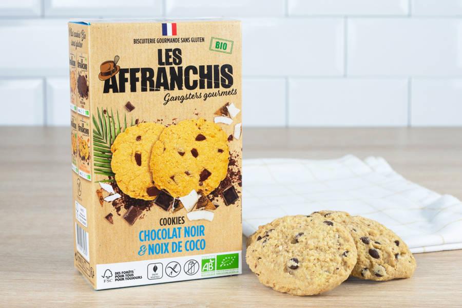 Cookies chocolat noir noix de coco sans gluten sans lactose BIO - Les Affranchis - La Ruche qui dit Oui ! à la maison