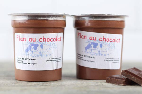 Flan au chocolat - Ferme de Saint-Thibault des Vignes