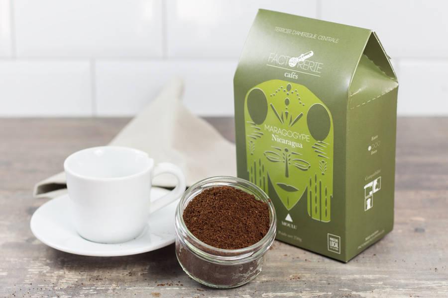 Maragogype moulu - Cafés Factorerie - La Ruche qui dit Oui ! à la maison