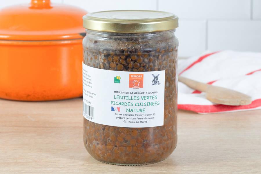 Lentilles vertes nature (au fumet de canard) - La Grange à grains - La Ruche qui dit Oui ! à la maison
