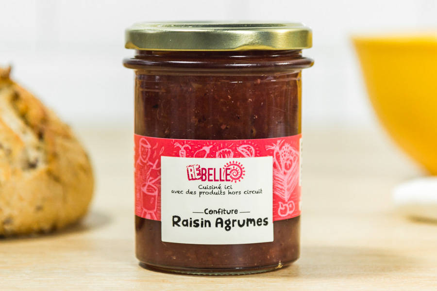 Confiture Agrumes Raisin - Re-Belle - La Ruche qui dit Oui ! à la maison