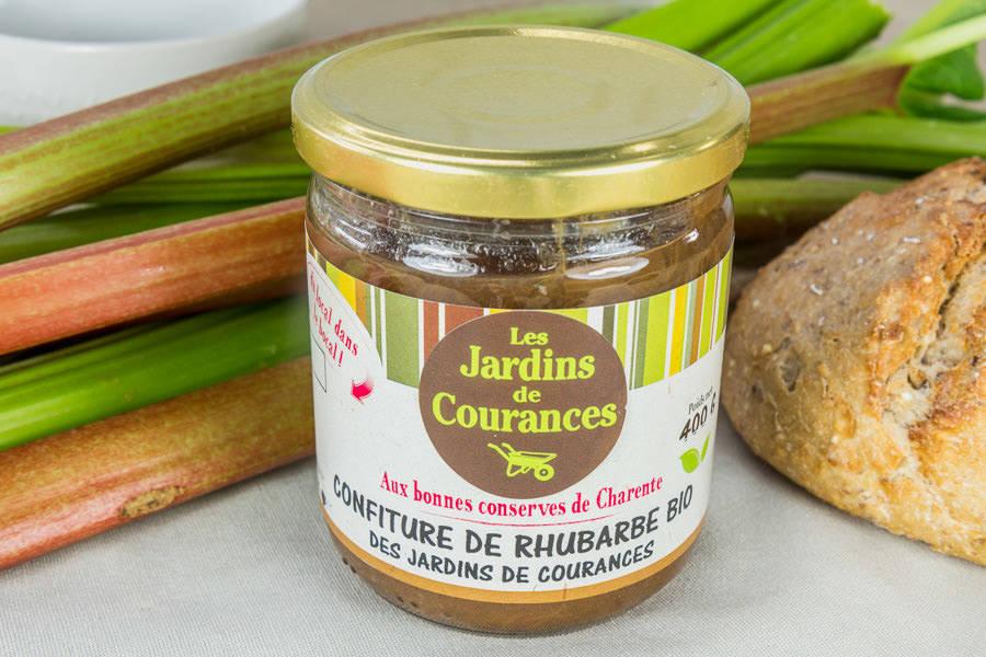 Confiture de rhubarbe BIO - Les jardins de Courances - La Ruche qui dit Oui ! à la maison