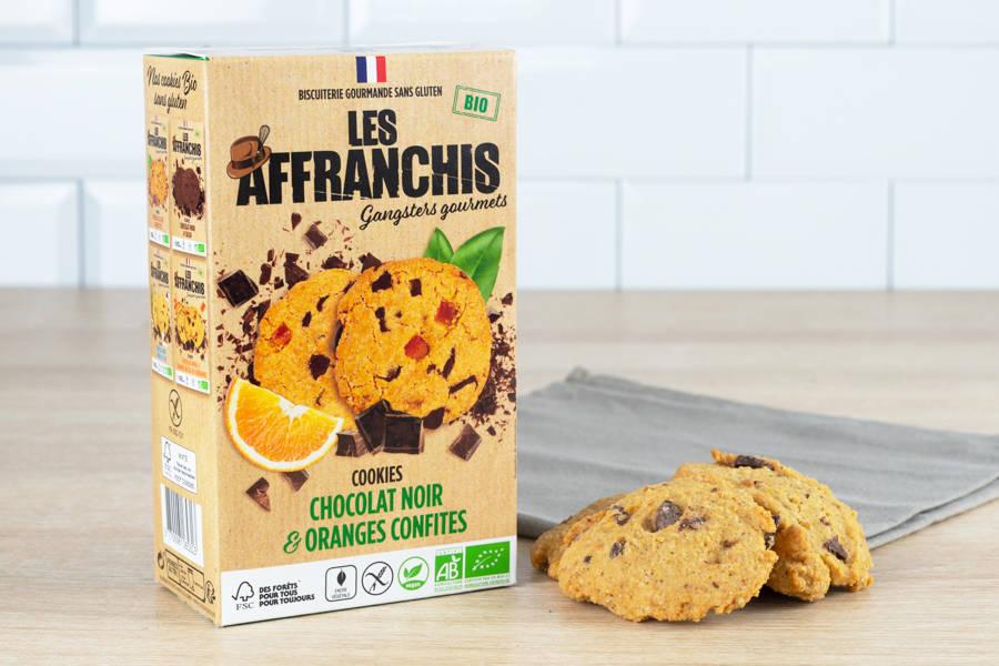 Cookies sans gluten chocolat noir et Oranges confites BIO - Les Affranchis - La Ruche qui dit Oui ! à la maison