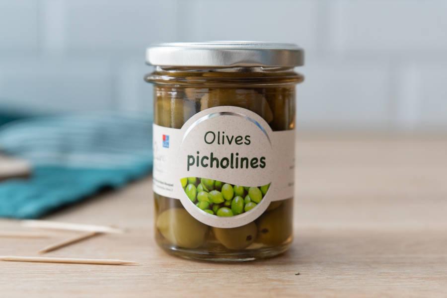 Olives Picholines - Les amandes du Mont Bouquet - La Ruche qui dit Oui ! à la maison