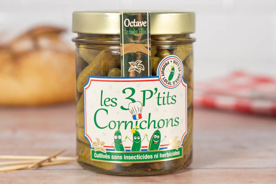 Cornichons extra-fins en bocal - Les 3 p'tits Cornichons - La Ruche qui dit Oui ! à la maison