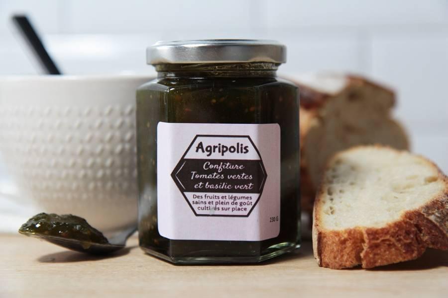 Confiture de tomate verte basilic - Agripolis - La Ruche qui dit Oui ! à la maison