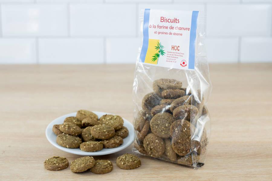 Biscuits farine de chanvre et graines de sésame - Huilerie de l'Orme Creux - La Ruche qui dit Oui ! à la maison