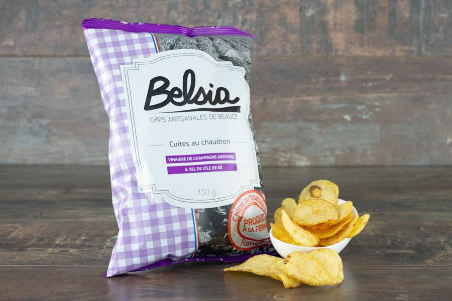 Chips artisanales au vinaigre de Champagne-Ardenne - Belsia - Ferme de Létourville - La Ruche qui dit Oui ! à la maison