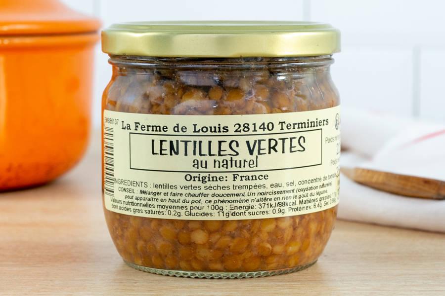 Bocal de lentilles vertes - Ferme de Louis - La Ruche qui dit Oui ! à la maison