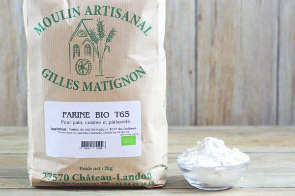 Farine de blé BIO T65 - Moulin artisanal Gilles Matignon