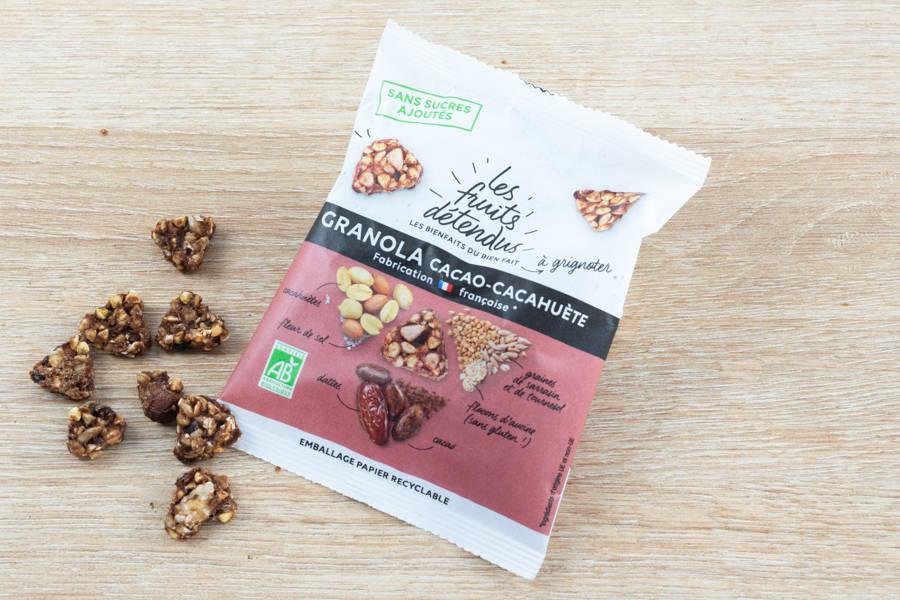 En-cas Granola Cacao Cacahuète BIO - Les Fruits Détendus - La Ruche qui dit Oui ! à la maison