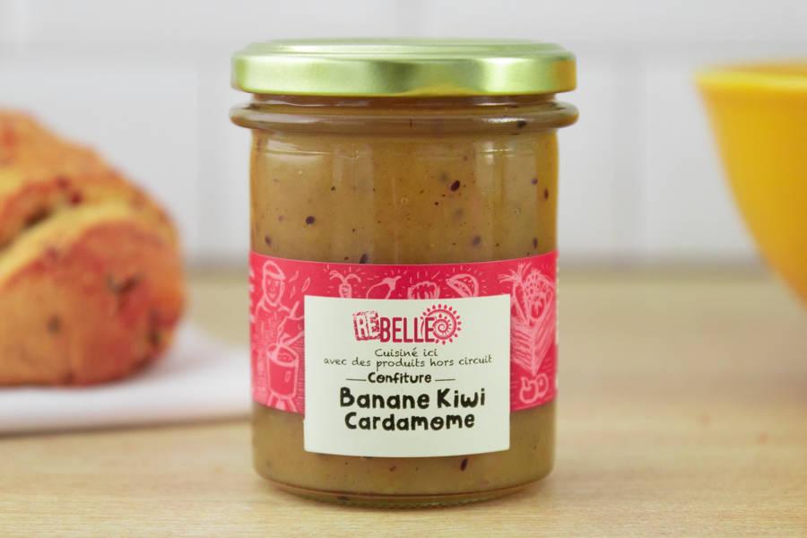 Confiture Banane Kiwi Cardamome - Re-Belle - La Ruche qui dit Oui ! à la maison