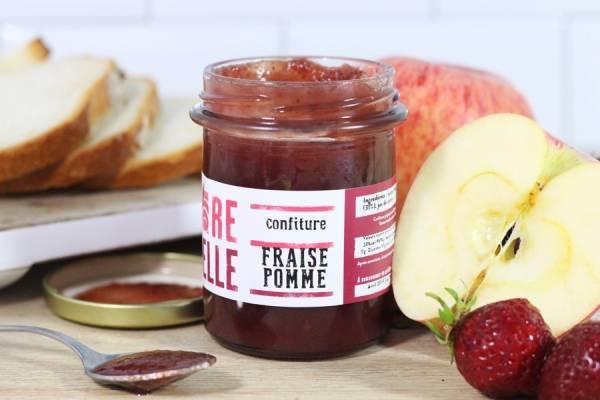 Confiture Fraise Pomme - Re-Belle