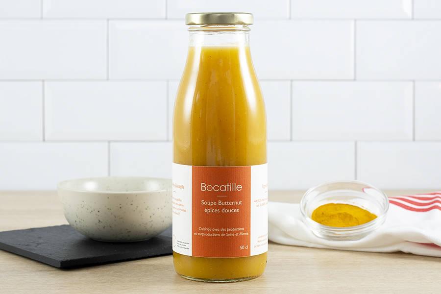 Soupe de Butternut épices douces 50cL - Conserverie de Larnière - La Ruche qui dit Oui ! à la maison