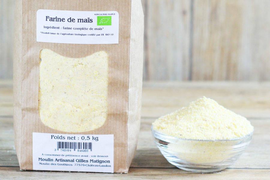 Farine de Maïs BIO - Moulin artisanal Gilles Matignon - La Ruche qui dit Oui ! à la maison