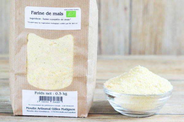 Farine de Maïs BIO - Moulin artisanal Gilles Matignon